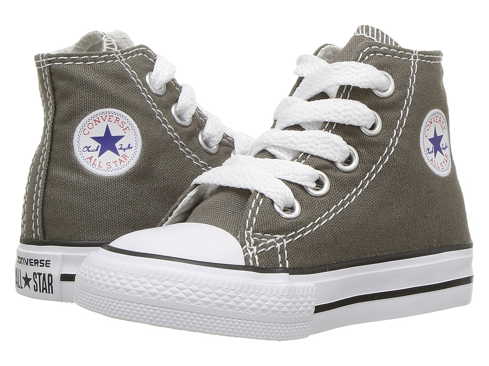 Converse Kids Chuck Taylor All Star Core Hi (Infant/Toddler) (Charcoal) Kids Shoes