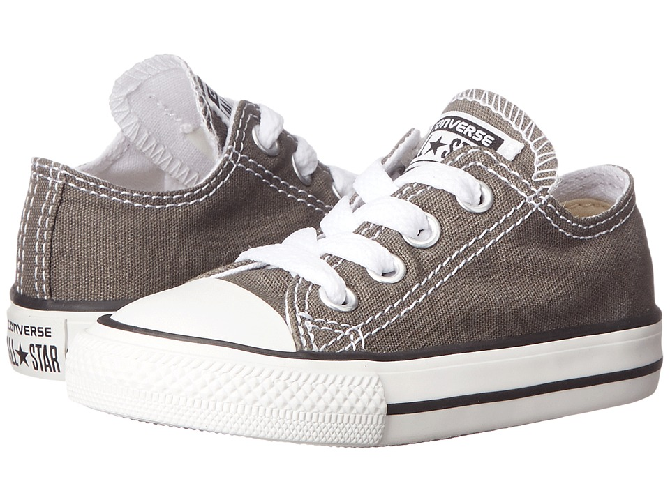 Converse Kids Chuck Taylor All Star Core Ox (Infant/Toddler) (Charcoal) Kids Shoes