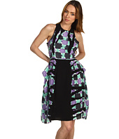 Tibi - Geneva Print Sleeveless Draped Dress