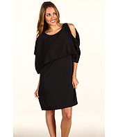 DKNYC - Cold Shoulder Double Layer Dress