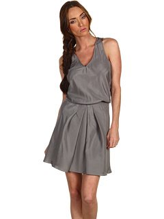 Tibi Sand Washed Silk Habutai V-Neck Dress at Couture.Zappos.com