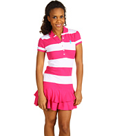 U.S. Polo Assn - Small Pony Striped Ruffle Dress