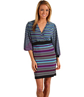 Laundry by Shelli Segal - Pleated Front Dolman Sleeve Dress