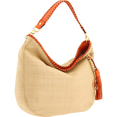 MICHAEL Michael Kors Soft Straw Bennet Large Shoulder at Zappos.com