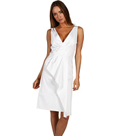 Rachel Roy - Stretch Cotton Wrap Drape Dress