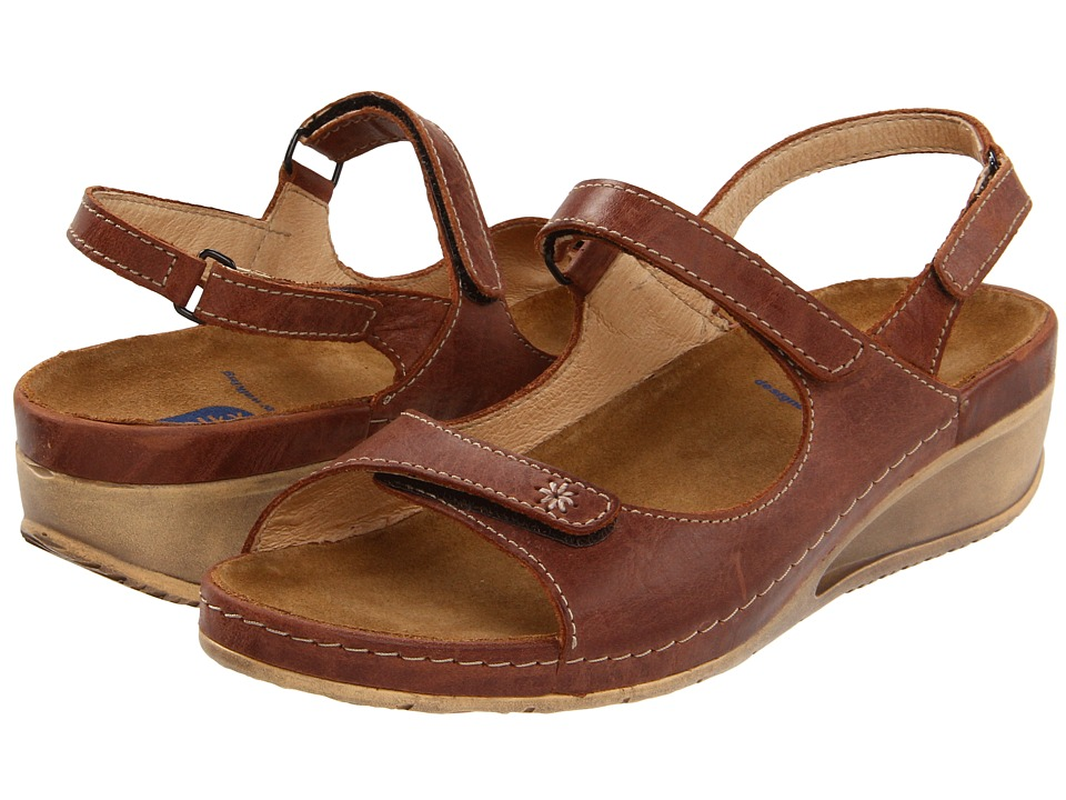 Wolky Tsunami Cafe Cartago Leather Womens Sandals