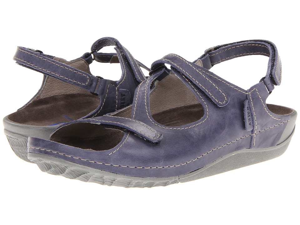 Wolky Leif Violet Gray Cartago Leather Womens Sandals