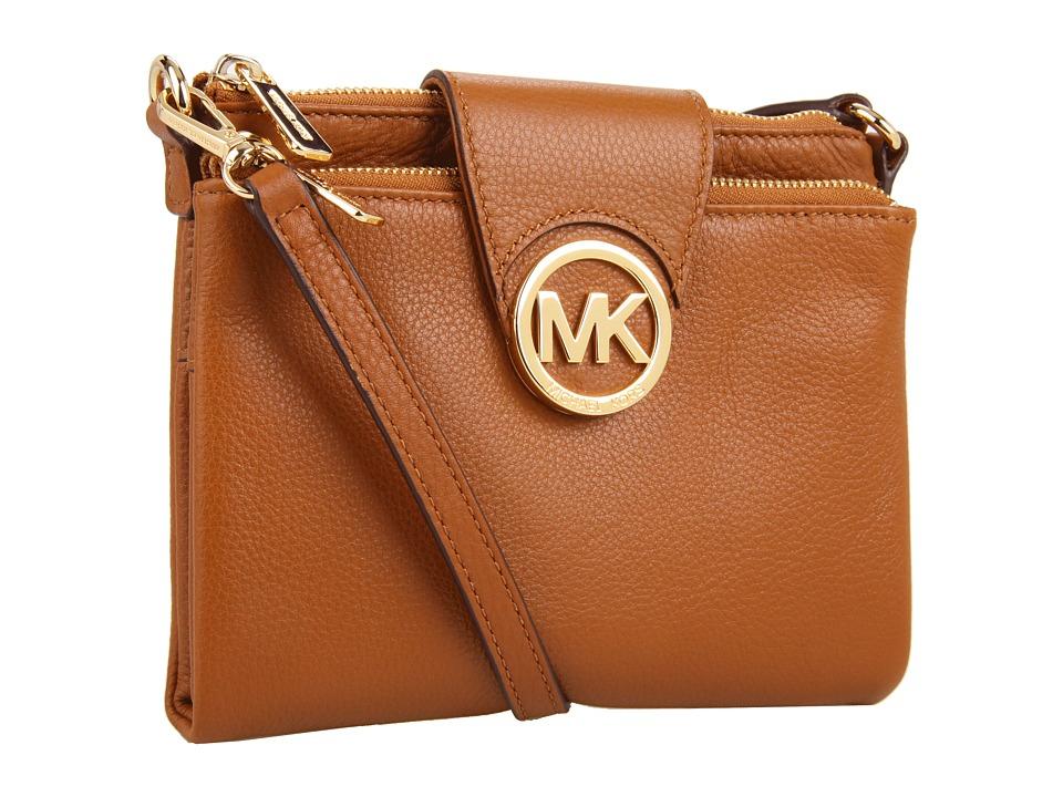 MICHAEL Michael Kors - Fulton Large Crossbody (Luggage) Cross Body Handbags