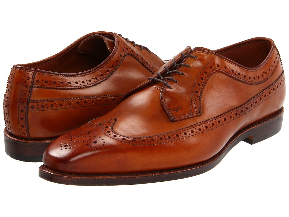 Mens Vintage Style Shoes| Retro Classic Shoes Allen-Edmonds - Larchmont Walnut Burnished Leather Mens Lace Up Wing Tip Shoes $327.25 AT vintagedancer.com