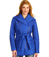 Jones New York - Asymmetrical Quilted Zip Front Coat