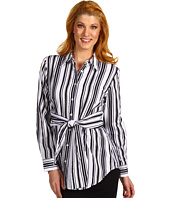 Jones New York - Striped Tie Front Blouse