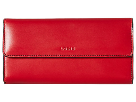 Lodis Accessories Audrey Checkbook Clutch - Red
