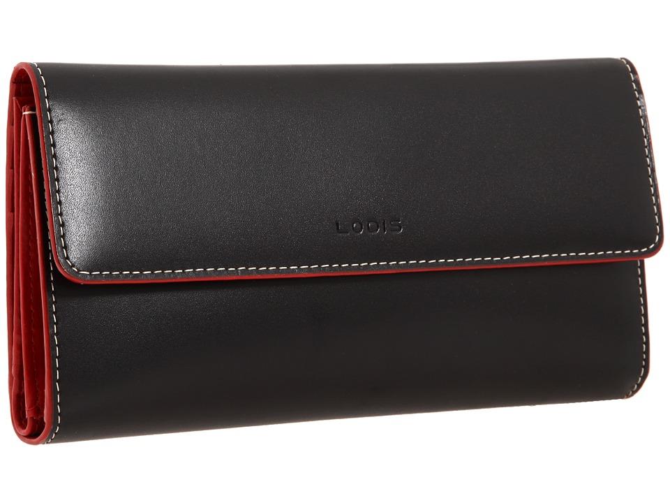 Lodis Accessories Audrey Checkbook Clutch Black Wallet Handbags
