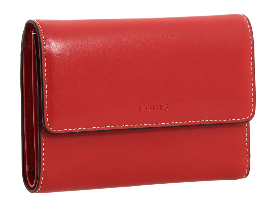 Lodis Accessories Audrey Continental Wallet Red Bi fold Wallet