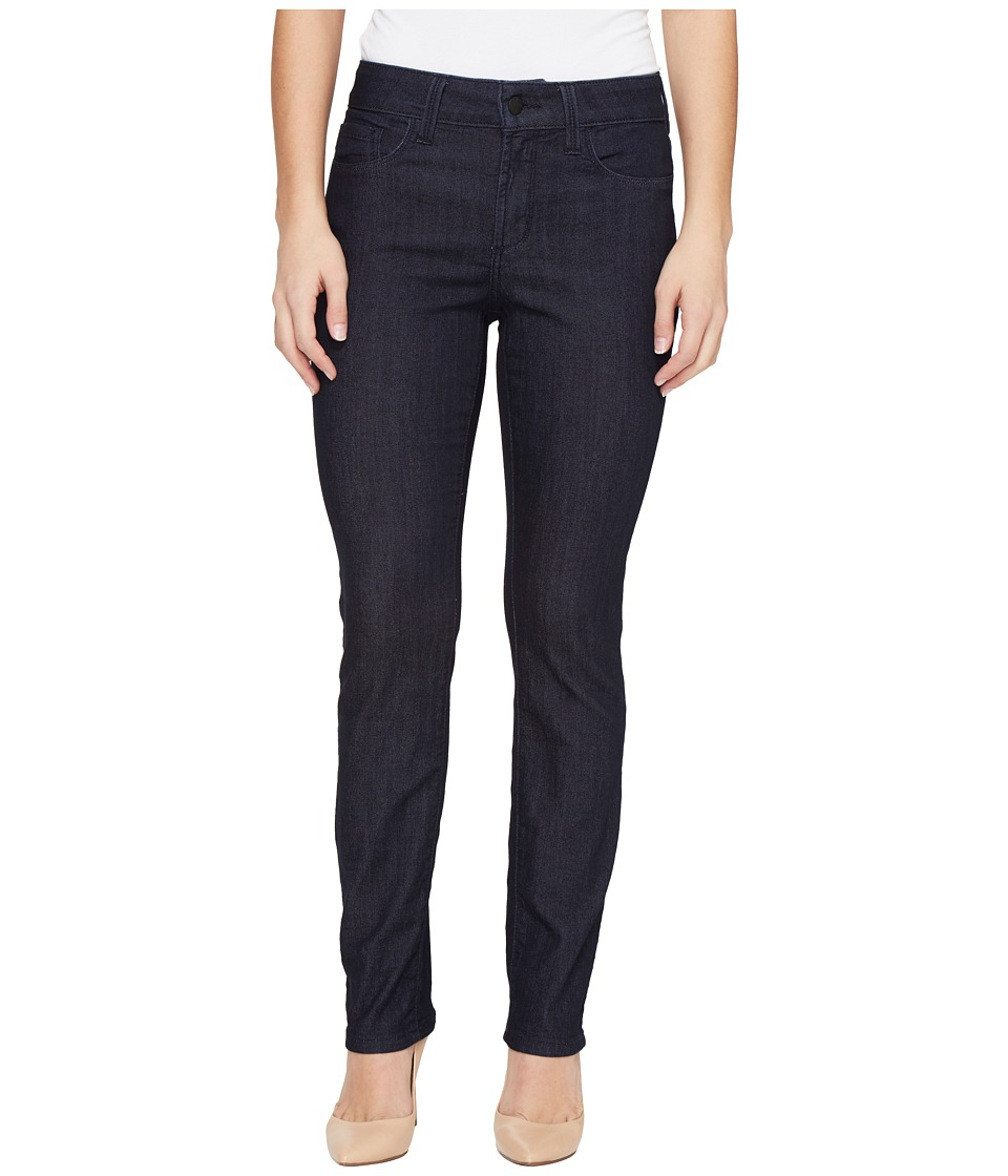 NYDJ Petite - Petite Size Sheri Slim Leg Denim in Dark Enzyme (Dark Enzyme) Womens Jeans