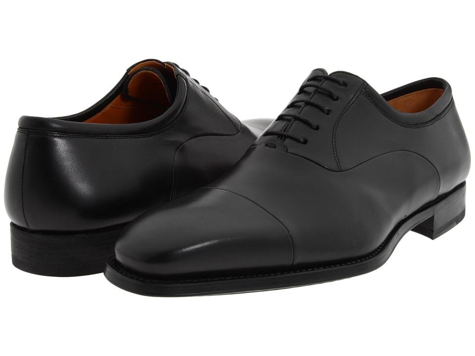 Magnanni - Federico (Black) Mens Lace Up Cap Toe Shoes