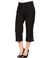 NYDJ Petite - Petite Brandi Crop Denim in Black Enzyme Wash