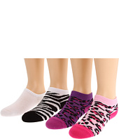 Jefferies Socks - Animal Print & Seamless Liner Low Cut Six Pack (Infant/Toddler/Youth)