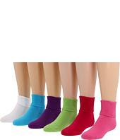 Jefferies Socks - Seamless Turn Cuff 6 Pair Pack (Infant/Toddler/Little Kid/Big Kid)