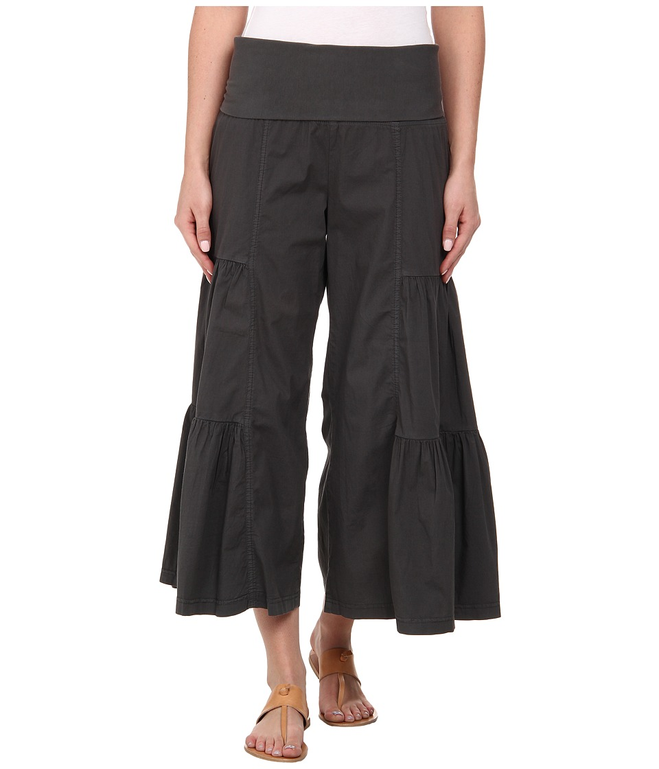 XCVI Cropped Side Tier Palazzo Moonrock Womens Casual Pants