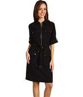 MICHAEL Michael Kors - Amirage Roll Sleeve Belted Dress