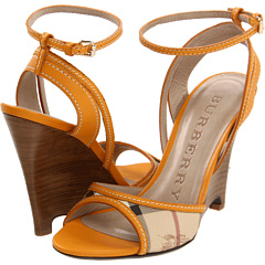 buy Burberry - Haymarket Braid Caledon Wedge Sandal (Turmeric Yellow) - Footwear  Online Shoe Shop