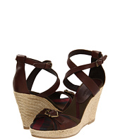 Burberry - Canvas Check Wedge Espadrilles