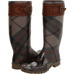 Burberry - Buckle Detail Check Rain Boots