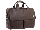 KNOMO London Warwick Double Compartment Laptop Briefcase (Brown)