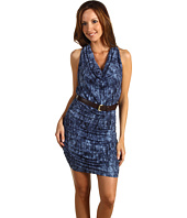 MICHAEL Michael Kors - Texture Batik Shirred Halter Dress