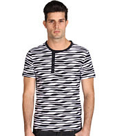 Versace Collection - Wave-Stripe Short-Sleeve Henley