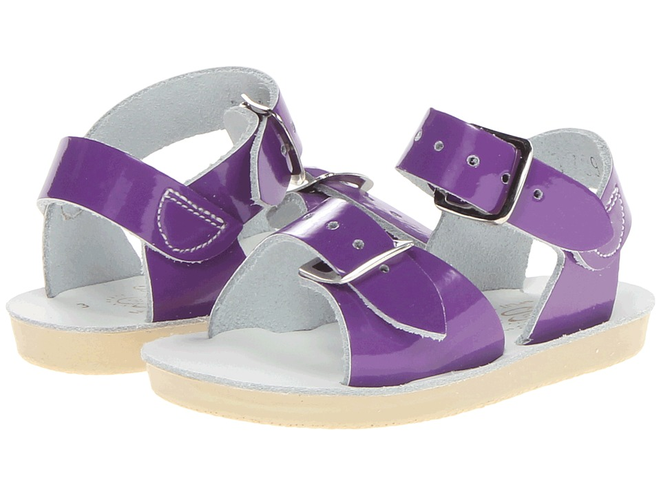 Salt Water Sandal by Hoy Shoes Sun-San Surfer (Toddler/Little Kid) (Shiny Purple) Girls Shoes