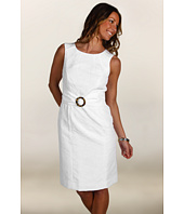 Tahari by ASL - Juliannie Cotton Jacquard Dress w/ Turtle Circle
