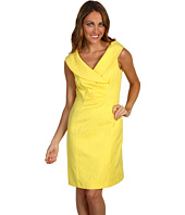 Tahari by ASL Petite - Petite Roger Yellow Jacquard Dress