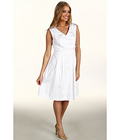 Tahari by ASL - Ginny Cotton Dress w/ Rushed Waist