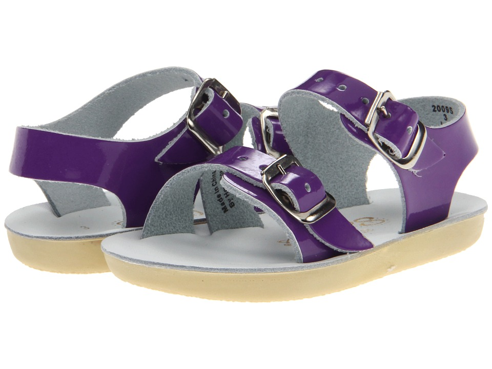 Salt Water Sandal by Hoy Shoes Sun San Sea Wees Infant/Toddler Shiny Purple Girls Shoes