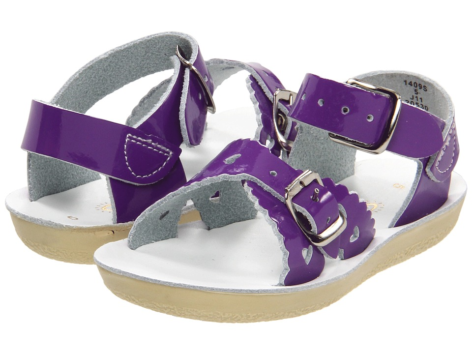 Salt Water Sandal by Hoy Shoes Sun San Sweetheart ToddlerLittle Kid Shiny Purple Girls Shoes
