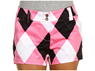 Loudmouth Golf Pink Black Mini Short