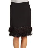 Anne Klein - Skirt w/ Feathers