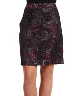 Anne Klein - Multi Jacquard Skirt w/ Pleats