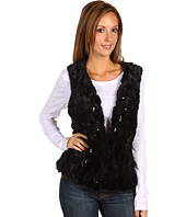 Anne Klein - Sequined Faux Fur Vest