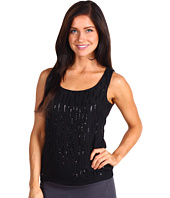 Anne Klein Petite - Petite Sequined Scoop Neck Tank