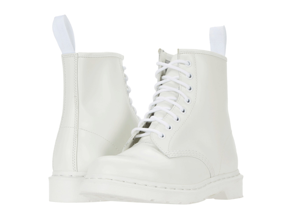 Dr. Martens 1460 8-Tie Boot (White Smooth) Lace-up Boots