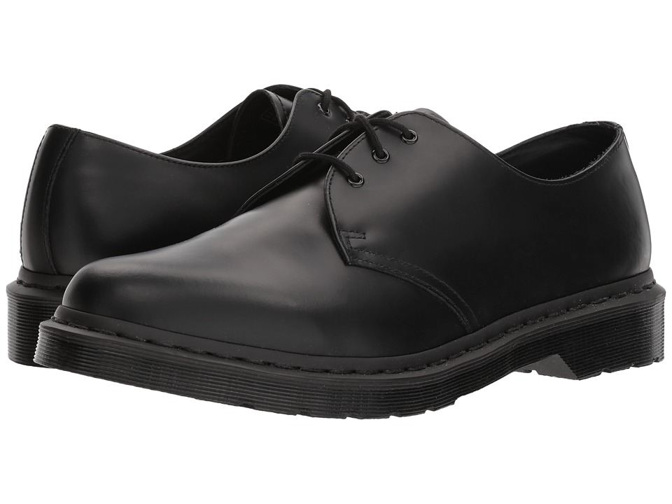 Dr. Martens 1461 3-Tie Shoe (Black Smooth) Lace up casual Shoes