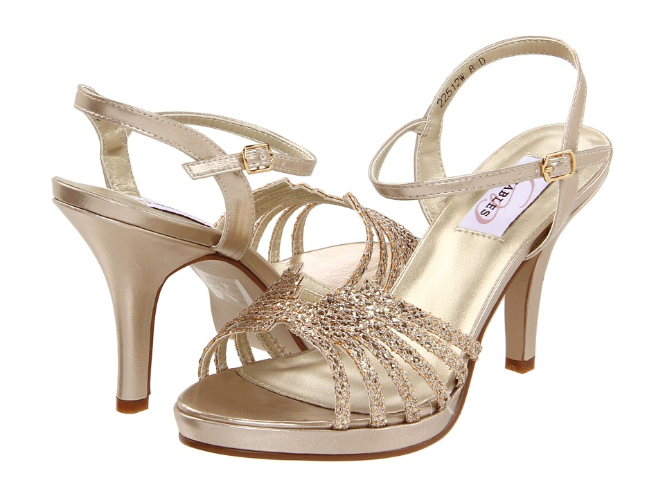 Touch Ups Leah Champagne Glitter High Heels