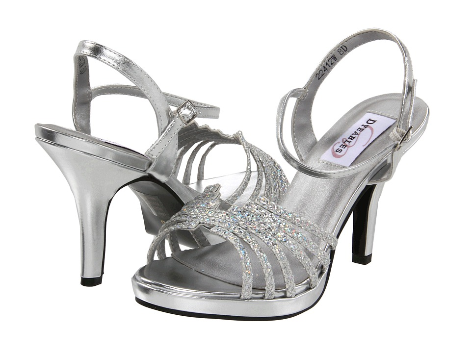 Wide Width Prom Shoes Silver