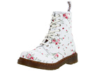 Dr. Martens - 1460 W 8-Eye Boot (White/Portland Rose) - Footwear