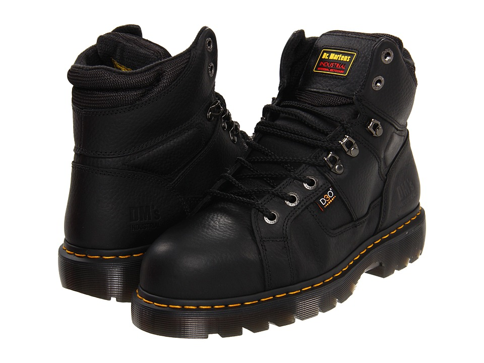 Dr. Martens Work - Ironbridge - Internal MetGuard (Black Industrial Grizzly) Men