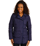 Lacoste Quilted Down Double Breasted Pea Coat Lacoste Quilted Down Double
