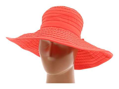 San Diego Hat Company RBL299 Crushable Ribbon Floppy Hat - Coral